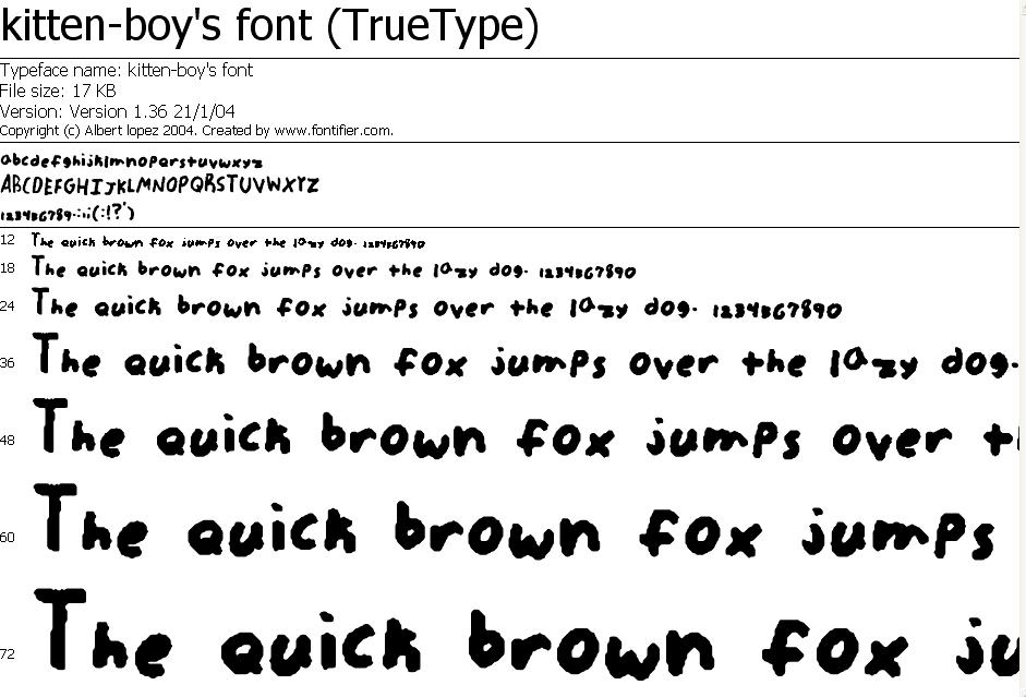 Kitten-boys font by kitten-boy