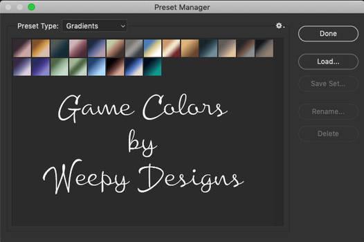 Game Colors by Weepy Designs