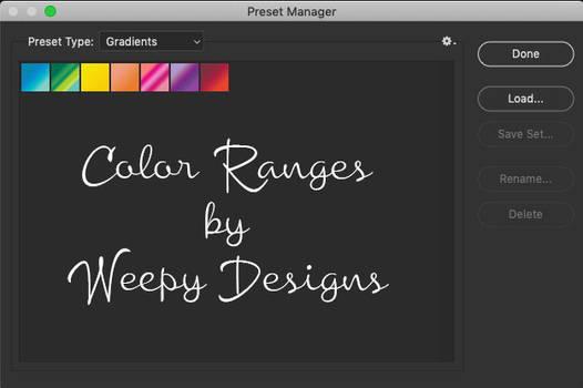 Color Range by Weepy Designs