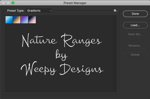 Nature Ranges by Weepy Designs