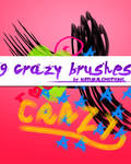9 crazy brushes.