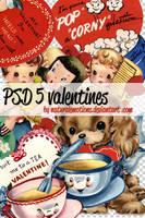 5 valentines vintage in PSD by naturalemotions