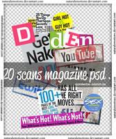20 scans magazine psd.