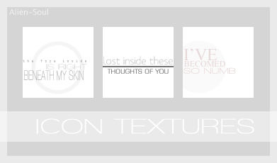 Icon Text Textures by AlieN-SouL