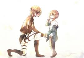 Child!Armin x Child!Reader - siblings by pumpkin-milk on