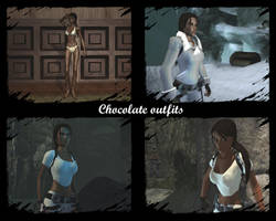 Chocolate outfits by Badty92