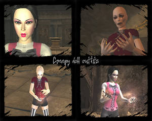 Creepy doll outfits