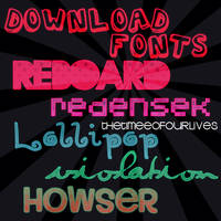 6 fREE fONtS. by TheTimeeOfOurLives