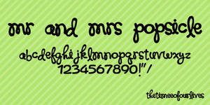 Mr and Mrs Popsicle font.