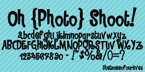Oh Photoshoot font