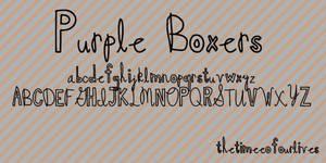 Purple Boxers font.