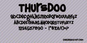Thursdoo fonts