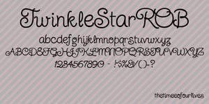 TwinkleStarROB font