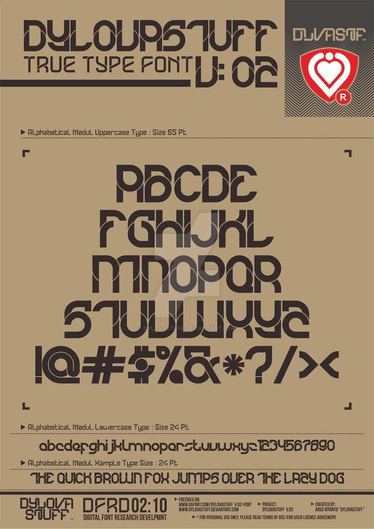 Fuente tipográfica - DYLOVASTUFF V:02