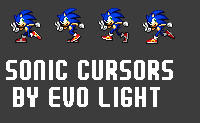 Sonic animated cursors-By Evo by evolvd-studios