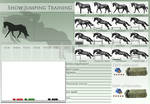 Show Jumping Training Template