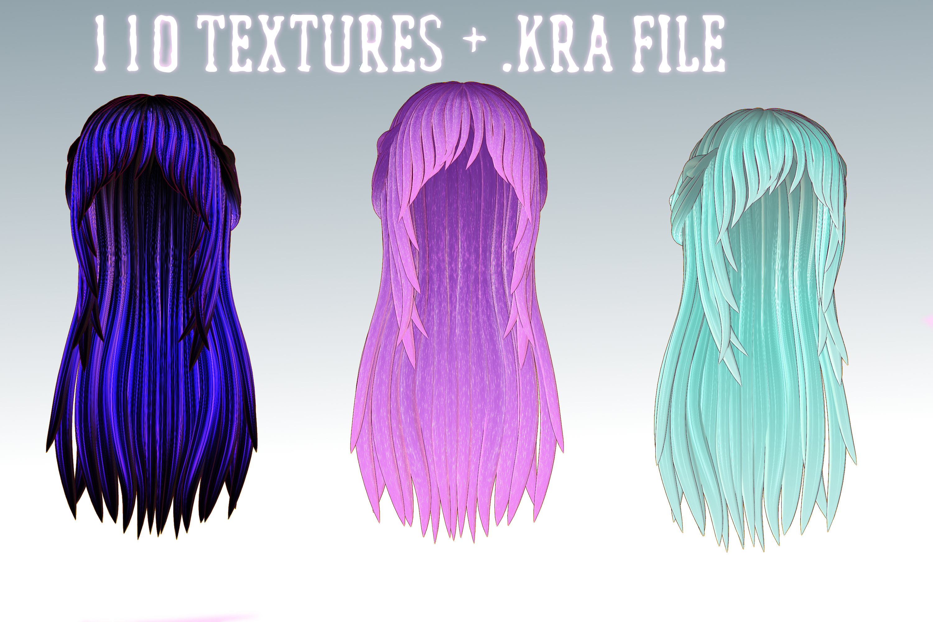 Mmd Huge Hair Texture Pack 2 By Relomi On Deviantart