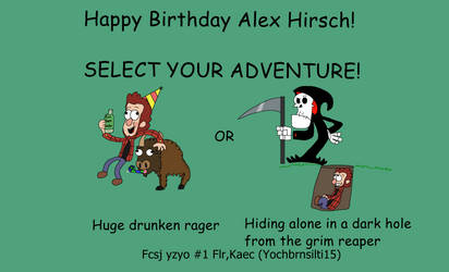 Happy Birthday Alex Hirsch! by Bordercollie15