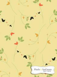 Seamless Tile BirdsNberries
