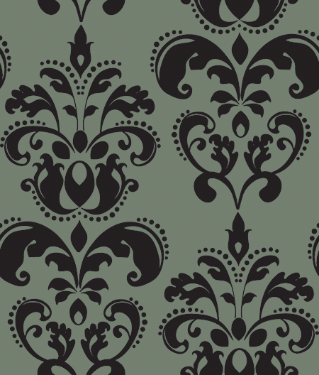 Charcoal Damask by pixelsandicecream