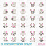 Bunny Smilies by apparate