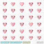 Heart Smilies by apparate