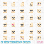 Toast Smilies by apparate