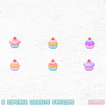 Cupcake Favicons by apparate