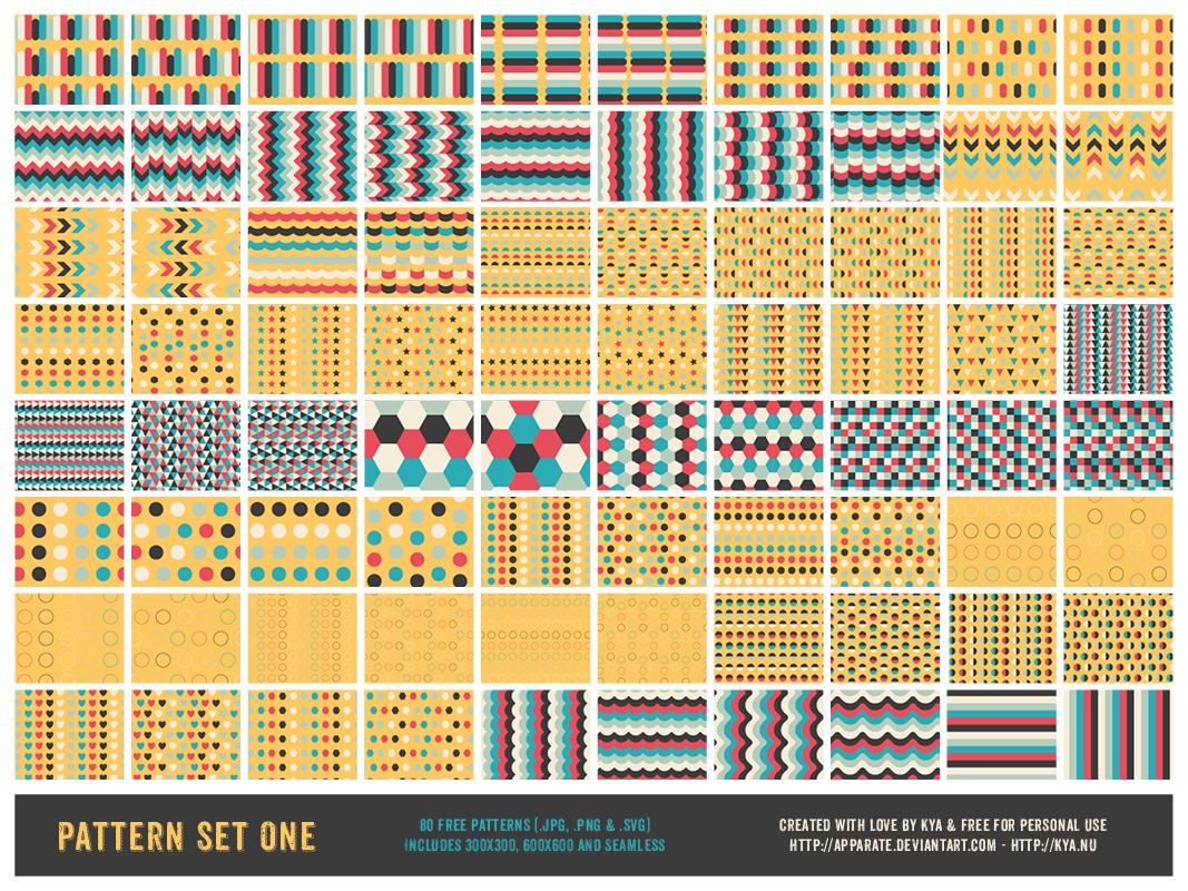 Pattern Set One (80 Free Patterns)