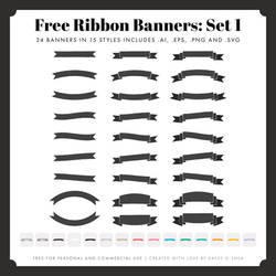 Free Ribbon Banners: Set 1