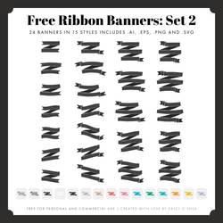 Free Ribbon Banners: Set 2
