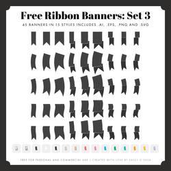 Free Ribbon Banners: Set 3