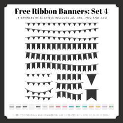 Free Ribbon Banners: Set 4