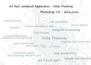 25 False Pretense brushes