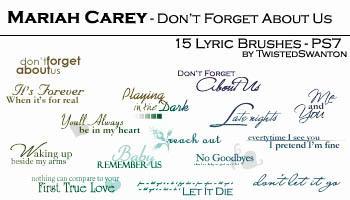 Mariah Carey tiny text lyrics