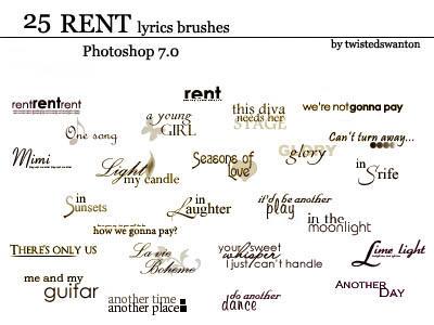 Brush typo RENT_lyrics___text_brushes_by_twistedswanton