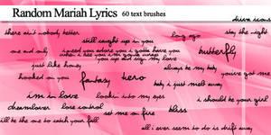 60 Mariah lyric brushes
