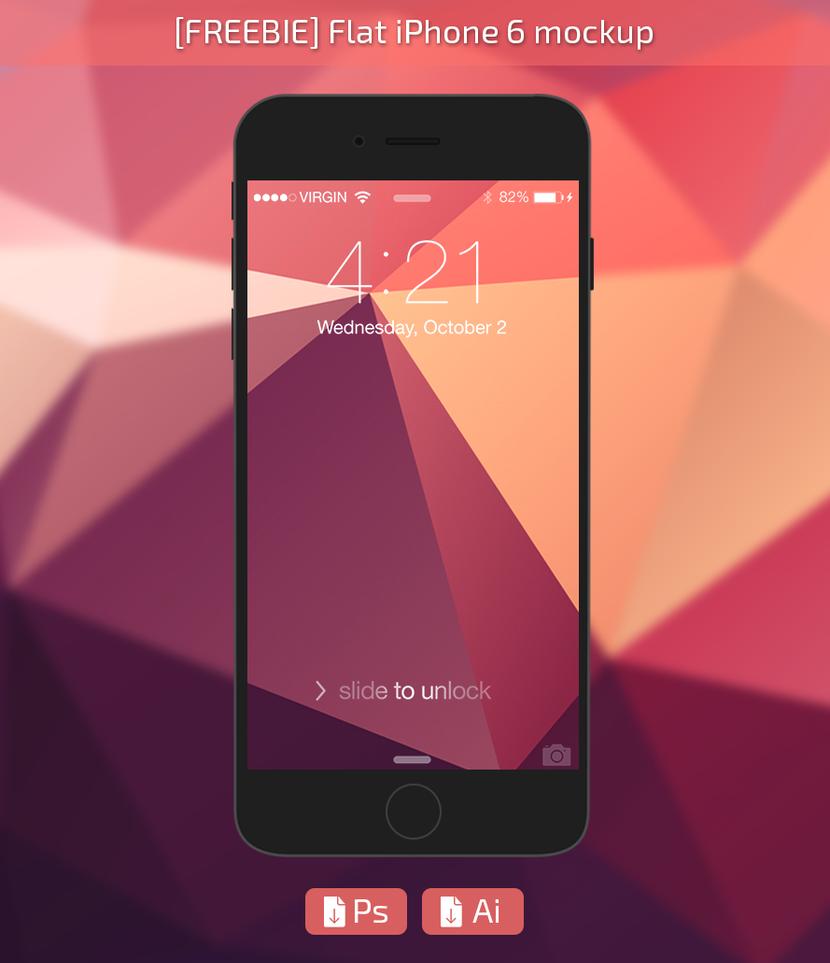 Iphone wallpaper freebie - Freebie Iphone6 Flat Mockup By Rasvob On Deviantart