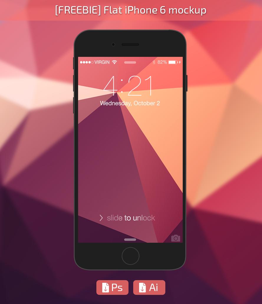 [FREEBIE] iPhone6 Flat Mockup by Rasvob