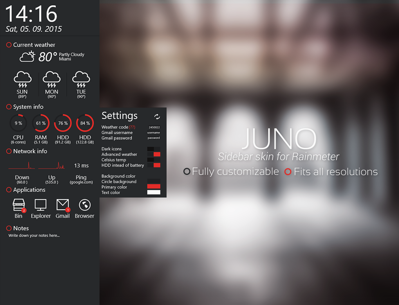 Gmail theme background not working