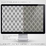 Light and Grey Damask