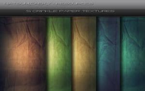 5 CrinklePaper Textures by Natsum-i