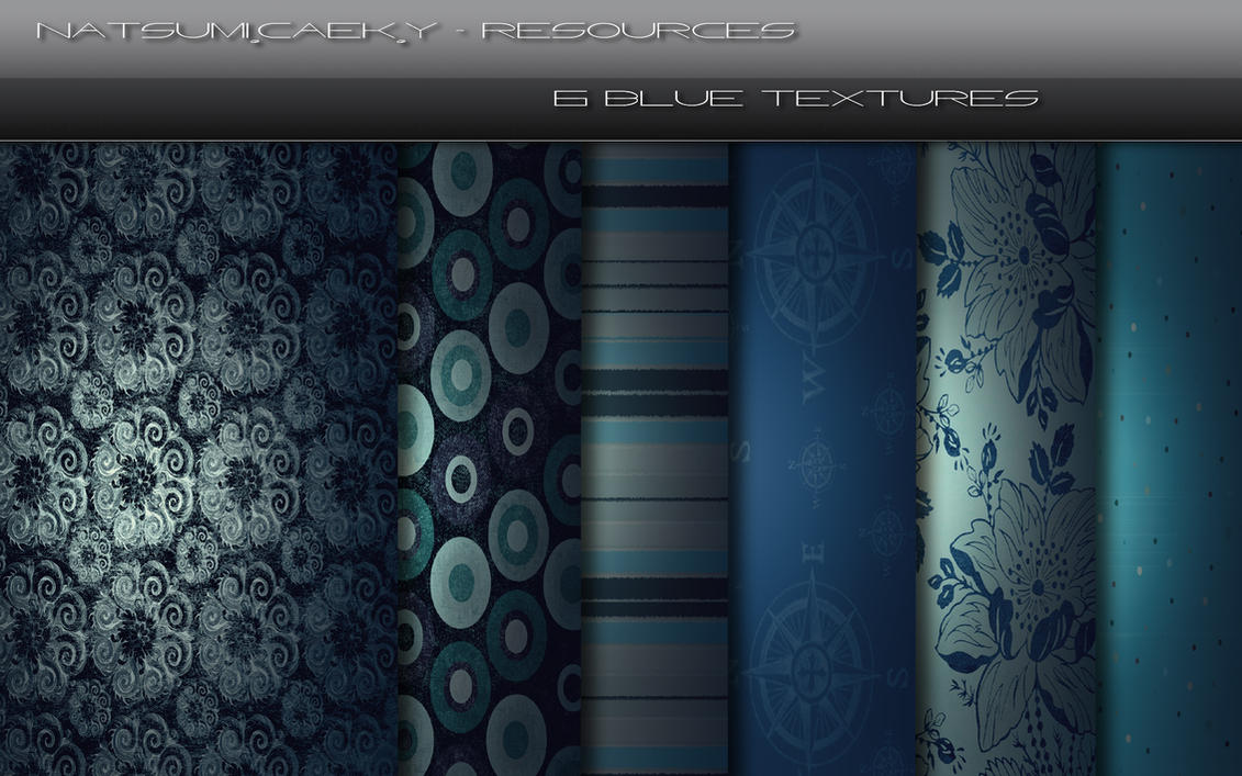 6 Blue Textures Resources Pack by Natsum-i