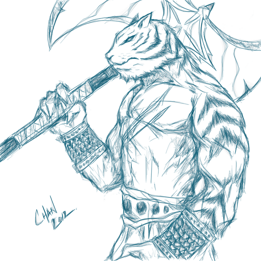 First Muro Sketch Online Session - Tiger Warrior by chanchan222 on ...