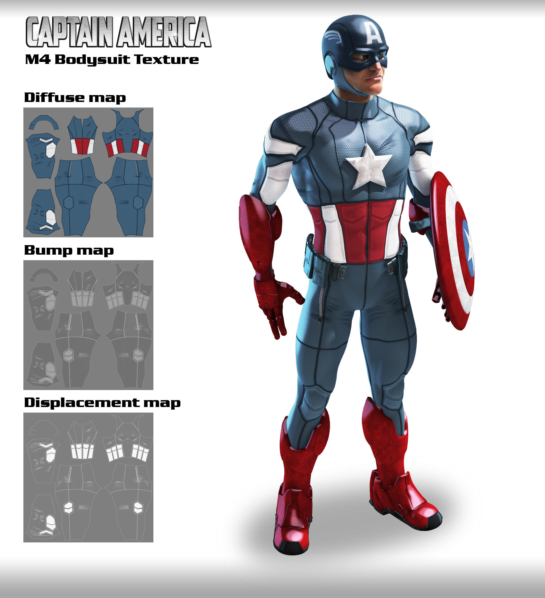 M4 BodySuit Textures Captain America by 6and6