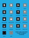 Vector Force Organisation Chart Symbols(Unlabeled)