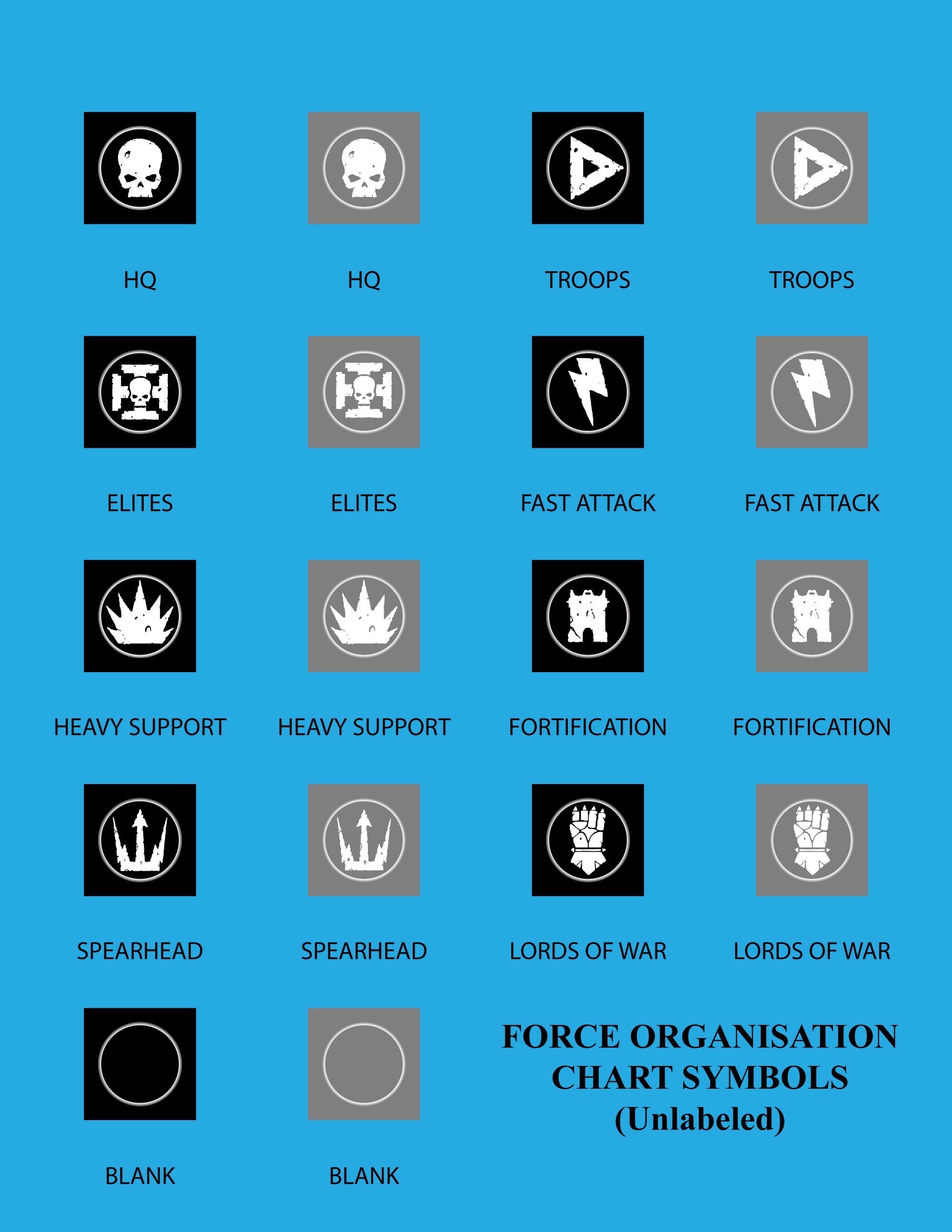 vector force organisation chart symbolsunlabeled by