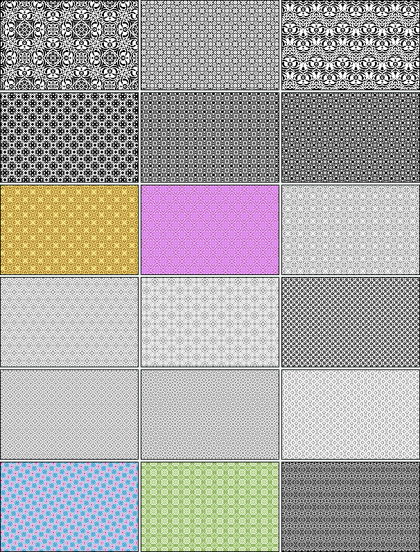 18 Pixel Patterns by pyokola-digital