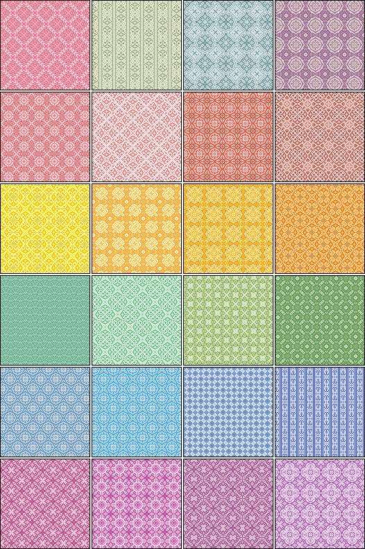 24 Pixel Patterns by pyokola-digital
