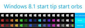 Windows 8.1 Start Tip start orbs for Windows 7